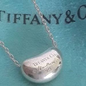 Tiffany & Co Peretti Silver Mini Bean  Necklace